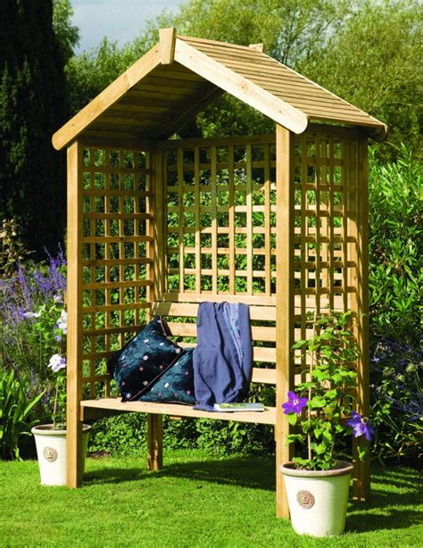 solid 3 seater garden arbour tanalised outdoor bench 45 garden arbor bench design ideas diy kits you can