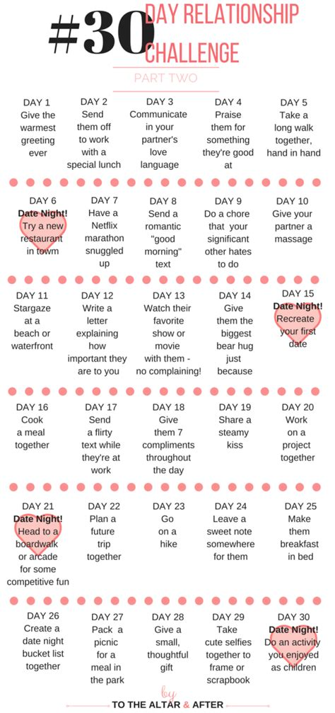 30 Day Dating Detox by 30 Day Relationship Challenge To The Altar Altar