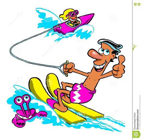 cartoon boat ski cartoon water skiing stock photo image of crab speedboat
