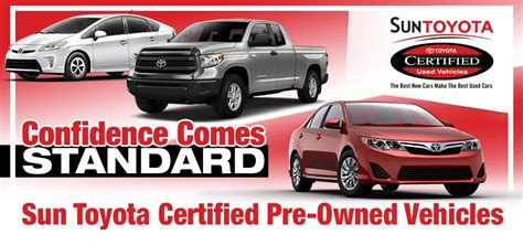 toyota certified pre owned the sun toyota certified pre owned vehicle program