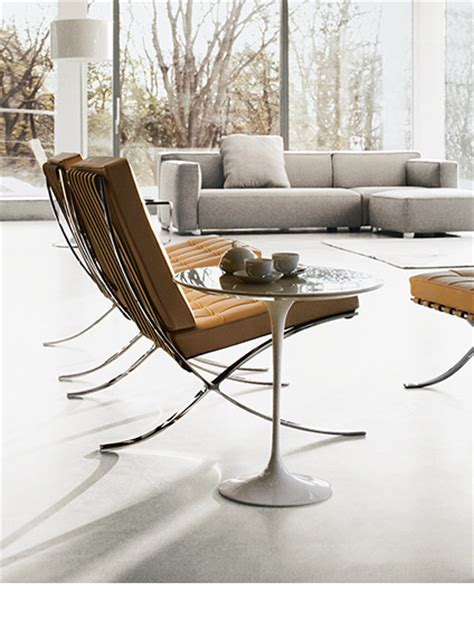 barcelona chair living room shop living room furniture knoll