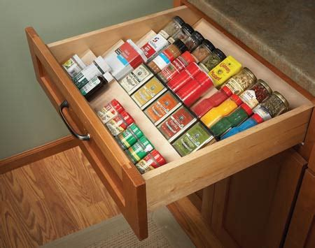 diy spice rack drawer picture of diy angled shelving to organize spices in a drawer