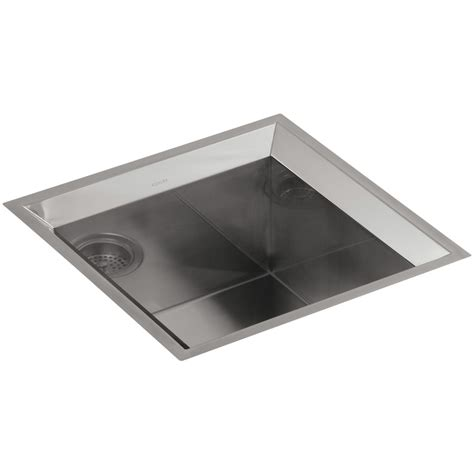 kohler bar sink stainless shop kohler poise stainless steel single basin undermount