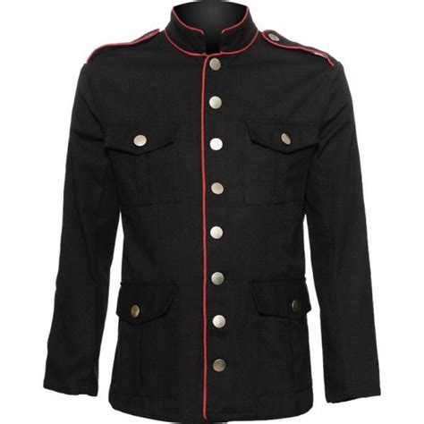 design uniform jacket a black cotton men s jacket from the gothic clothing brand