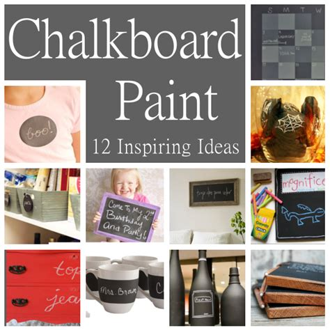 chalkboard paint cleaning diy home sweet home 12 inspiring ideas for using