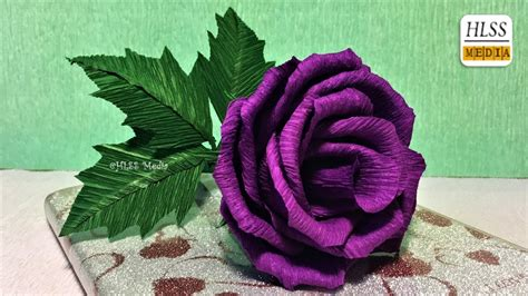 lavender paper flower tutorial super easy way to make purple rose paper flower diy rose