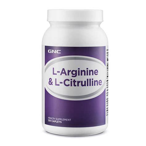 supplement l arginine gnc l arginine l citrulline 120 caplets vitamins