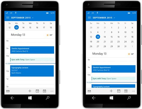 microsoft updates beta outlook mail and calendar