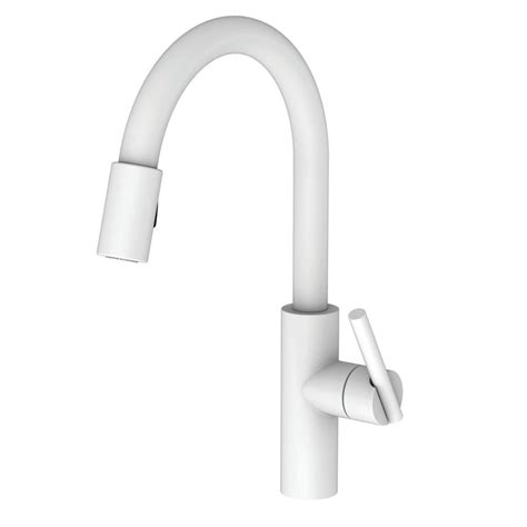 white pull down kitchen faucet faucet com 1500 5103 52 in matte white by newport brass