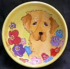 what size bowl for golden retriever custom ceramic bowls anything dogs