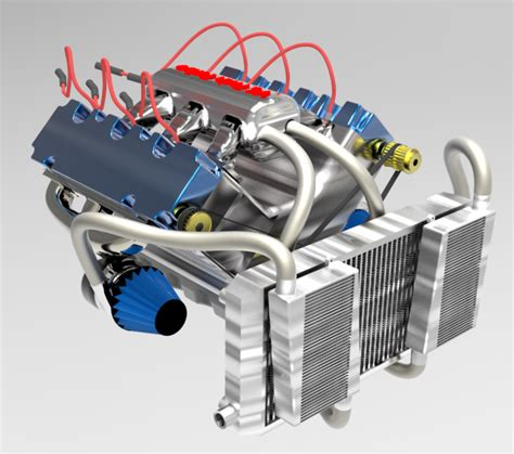 tutorial turbo solidworks v6 twin turbo engine solidworks 3d cad model grabcad