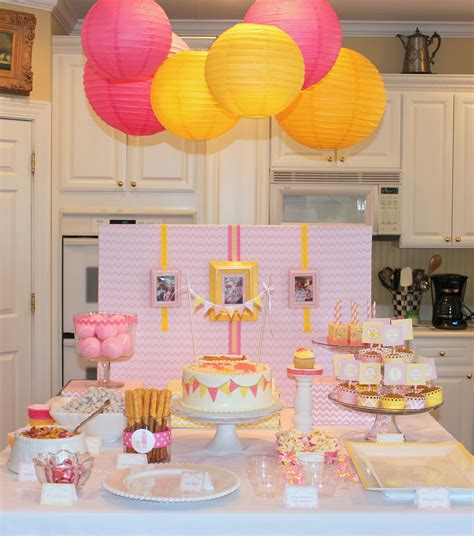 Pink And Yellow Birthday Decorations by Pink And Yellow Puppy