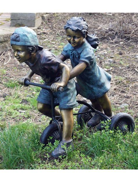 bronzed pony girl rider statue sculpture figurine free ride bronze sculpture bronzeman
