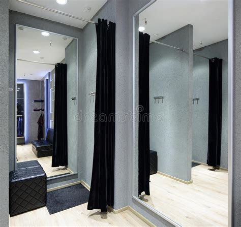 Dressing Room Free by Interior Of Dressing Room At Cloth Store Stock Photo
