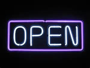 open neon open sign horozontal bb 008white open purple border