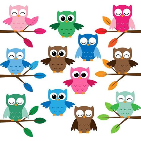 free printable cartoon owl pictures cute owls clip art set owl clip art clip art and owl