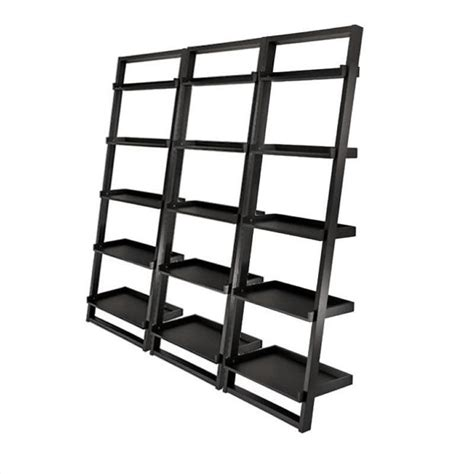 5 tier ladder bookcase set in black 29525 pkg