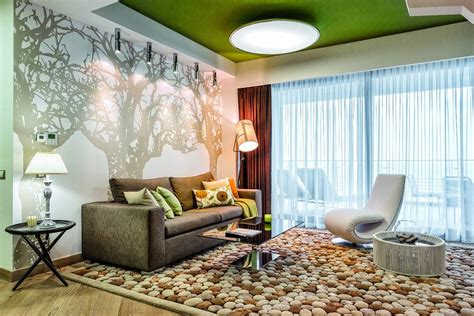 modern interior design with fresco wall murals inspired by contemporary interior design inspired by summer garden