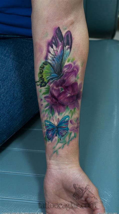 watercolor tattoos foot watercolor butterfly foot