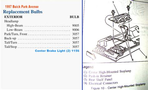 manual repair autos 1997 buick park avenue spare parts catalogs licence plate tag light bulb replacement gm forum buick cadillac chev olds gmc