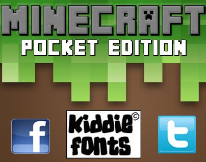 dafont ipad minecraft pe font dafont com