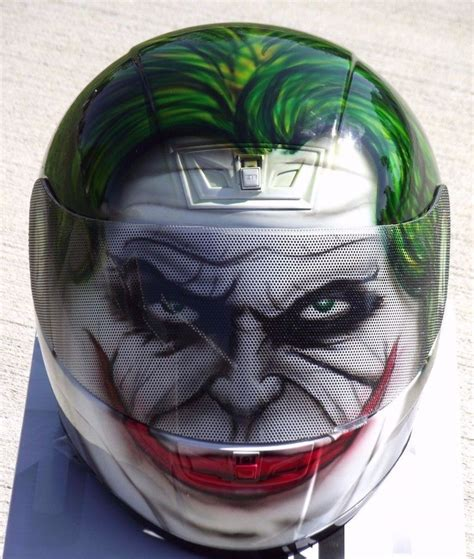 airbrushed motocross helmets the joker custom airbrush painted motorcycle helmet ebay