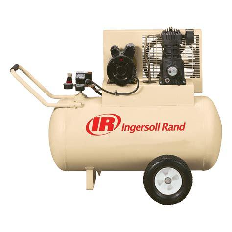 ingersoll rand portable electric air compressor  hp  gallon horizontal  cfm model