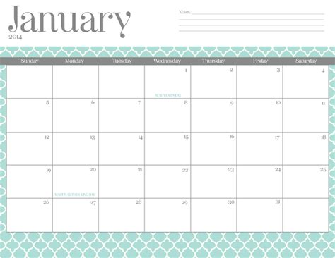 free printable month planner 2014 14 free 2014 printable monthly calendars thesuburbanmom