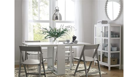 white folding kitchen table and chairs span white gateleg dining table crate and barrel