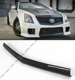 Cadillac Bumper Carbon Fiber Front Bumper Center Lip Spoiler For 2013 14