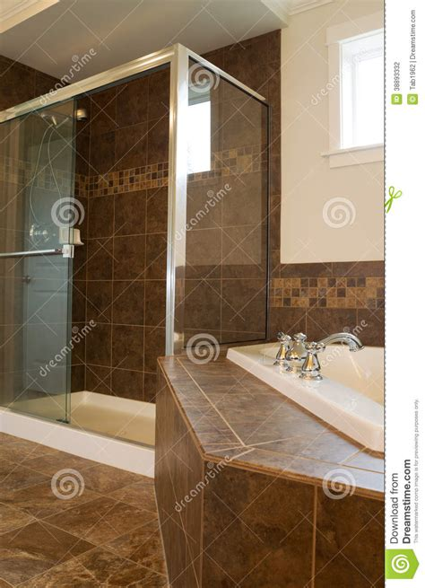 large shower bath large shower in master bath room stock photo image 38893332