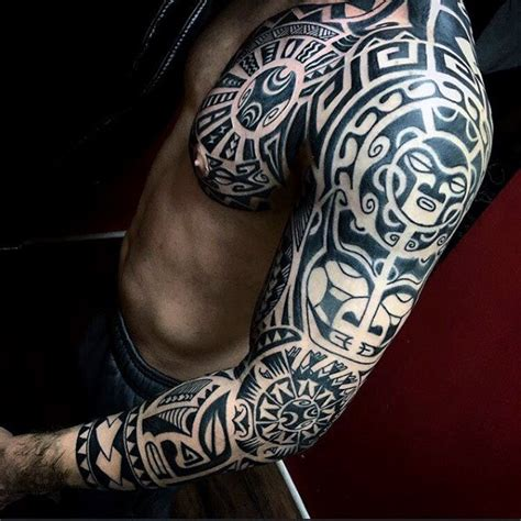 mens tribal tattoo sleeves 90 tribal sleeve tattoos for manly arm design ideas