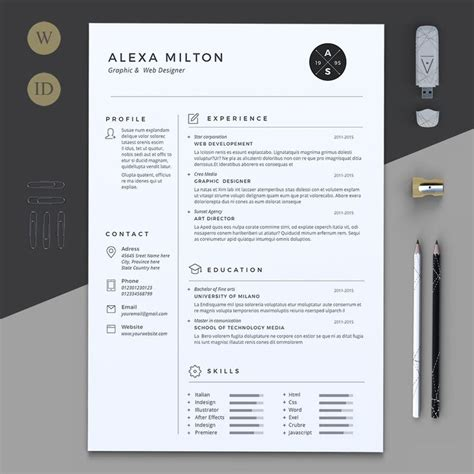 2 page resume template best 25 cv template ideas on creative cv