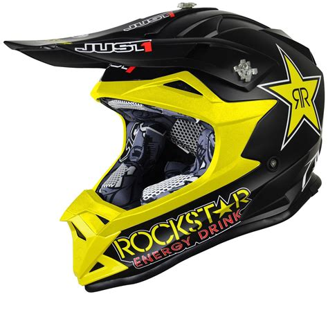 helmets for motocross just1 j32 pro rockstar motocross helmet motocross