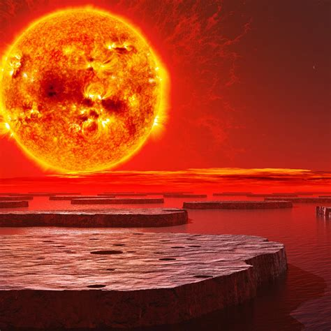 wallpaper sun burning planet  space