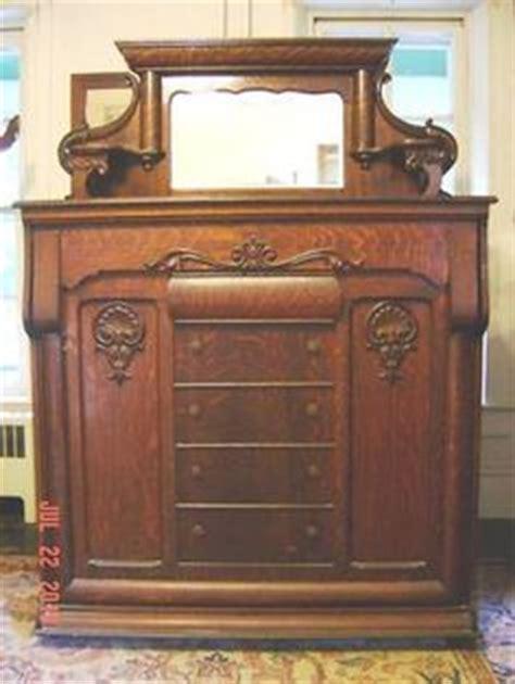 1890's antique golden oak murphy bed   antiques, beds and