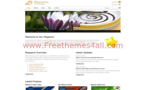 free website templates html css jquery free html news magazine css website template freethemes4all