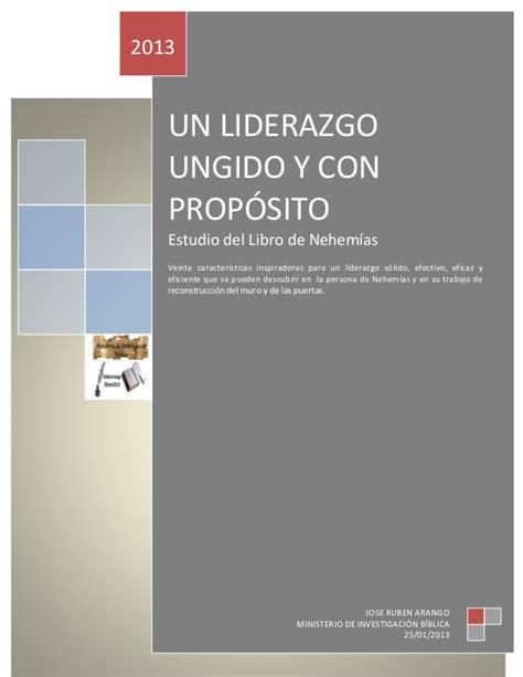 libro liderazgo con propostio lecciones un liderazgo ungido y con prop 243 sito joaro