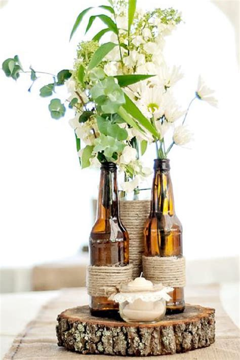 10 Wine Bottle Centerpieces For Your Wedding   TableScapes