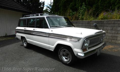 jeep wagoneer white seller of cars 1966 jeep wagoneer white