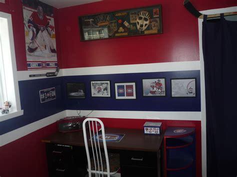 sports fan room my kid s hockey room habs fans partisans tricolore canadiens de montreal