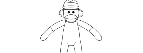sock monkey template sock monkey template large