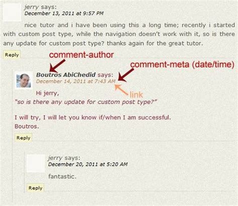Word Association Comment Dating Style by How To Style Author S Comments In Without A Plugin