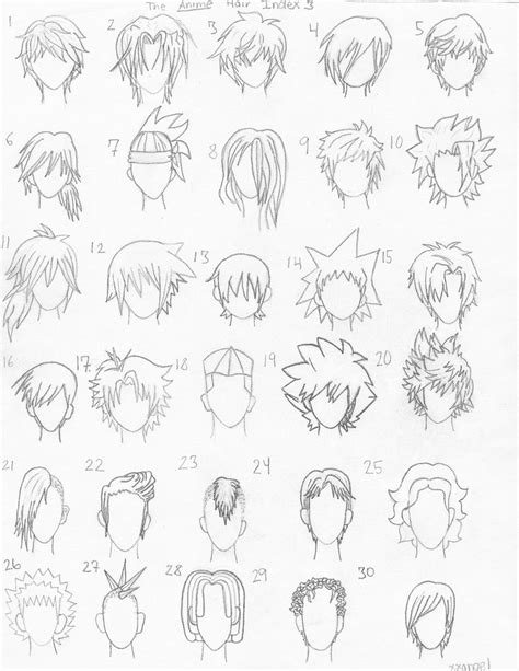 anime hairstyles sketch the anime hair index 3 by xxangelsilencex on deviantart