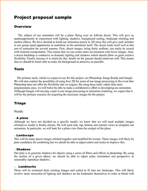 template for for a project 9 template for writing a for a project project
