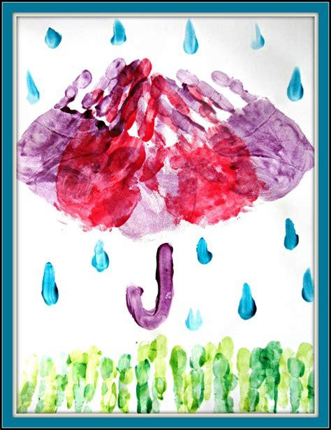 april showers finger paint craft it forward