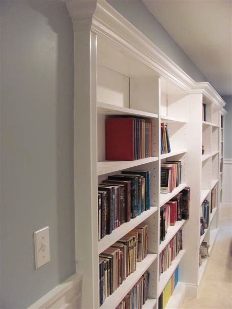 recessed bookshelves remodelaholic diy stair slide or how to add a slide to