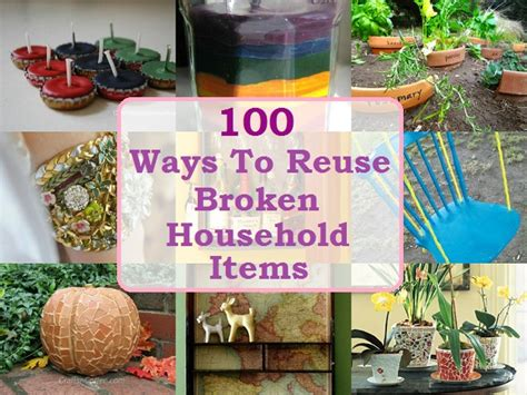 Ways To Fix Your Broken Products by Image Gallery Reuse Repurpose
