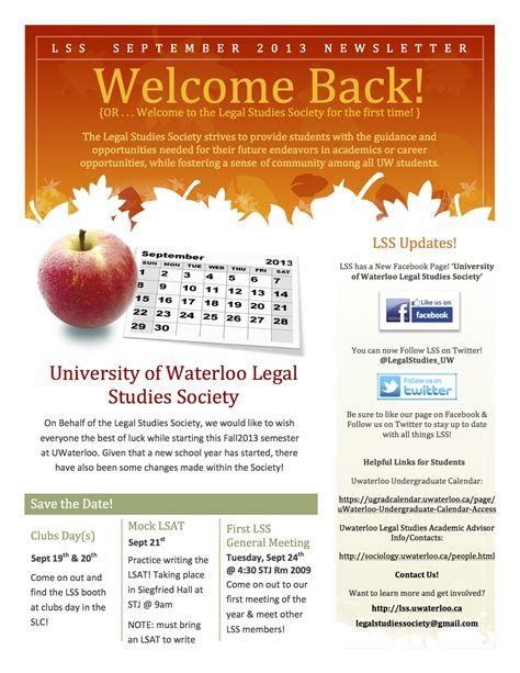 New Newsletter News by The Lss Is Excited To Announce Our New Monthly Newsletters