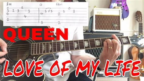 tutorial guitar love of my life queen love of my life guitar play along guitar tab